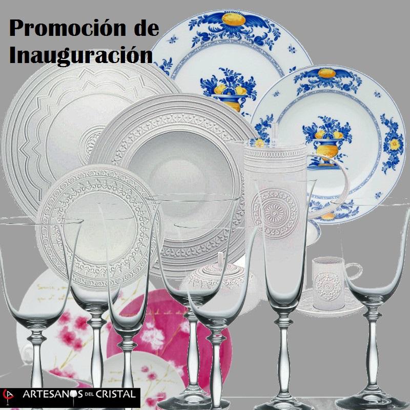 vajilla regalo promoción inauguración