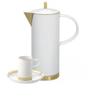 Juego cafe Vista Alegre Domo oro