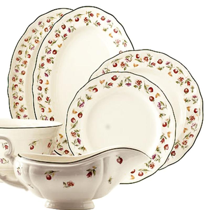 Vajilla san claudio grana artesanos del cristal for Vajilla de platos